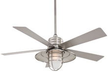 Minka-Aire F582-BNW - One Light Brushed Nickel Wet Outdoor Fan