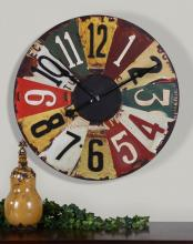 "Uttermost 06675 - Uttermost Vintage License Plates 29"" Wall Clock"