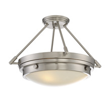 Savoy House 6-3351-3-SN - Lucerne 3 Light Semi-Flush
