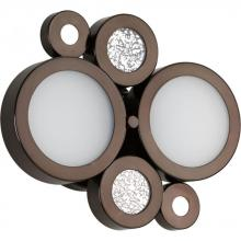 Progress P2026-74WB - Two Light Venetian Bronze Etched White Glass Vanity