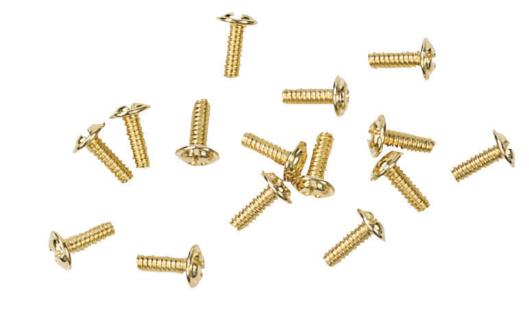 Blade Screws in Bright Brass