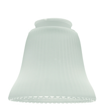 "Craftmade 505 - 2 1/4"" Fan Glass, Ribbed Bell Shaped in Frosted Ribbed"