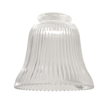 "Craftmade 755C - 2 1/4"" Fan Glass, Bell Shaped in Clear Ribbed"