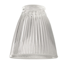 "Craftmade 757C - 2 1/4"" Fan Glass, Cone Shaped in Clear Ribbed"