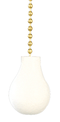 Craftmade FP-PR-WW - Pear Fan Pull Chain in White