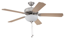 "Craftmade K10644 - Pro Builder 207 52"" Ceiling Fan Kit with Light Kit in Brushed Satin Nickel"