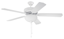 "Craftmade K10646 - Pro Builder 207 52"" Ceiling Fan Kit with Light Kit in White"