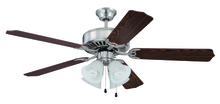 "Craftmade K11202 - Pro Builder 203 52"" Ceiling Fan Kit with Light Kit in Brushed Polished Nickel"