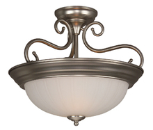 Craftmade X124-AW - White Bowl Semi-Flush Mount