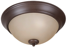 "Craftmade XP13AG-2A - Pro Builder 2 Light 13"" Flushmount in Aged Bronze Textured"