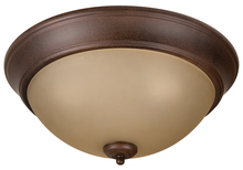 "Craftmade XP15AG-3A - Pro Builder 3 Light 15"" Flushmount in Aged Bronze Textured"