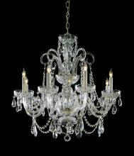 Crystorama 5006-PB-CL-SAQ - Crystorama 6 Light Spectra Crystal Polished Brass Chandelier