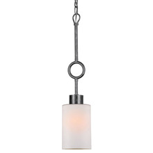 Crystorama 9440-EB-FR - Crystorama Odette 1 Light Bronze Frosted Glass Pendant