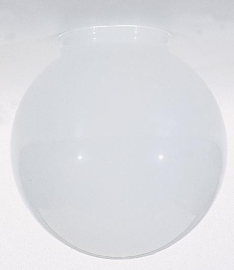 Sprayed Glossy White Ball Shade; Dia.: 6'; Fitter: 3-1/4'