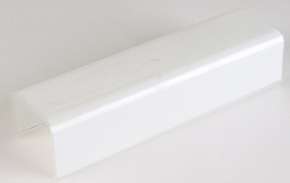"7"" U-Bend Shade; White; Vertical Hole 1-3/4' From End; 1/8 Slip"