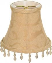 Satco Products Inc. 90/2358 - Clip On Shade; Beige Beaded Floral