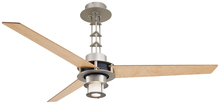 Minka-Aire F529-L-BS/CH - One Light Brushed Steel/chrome Ceiling Fan