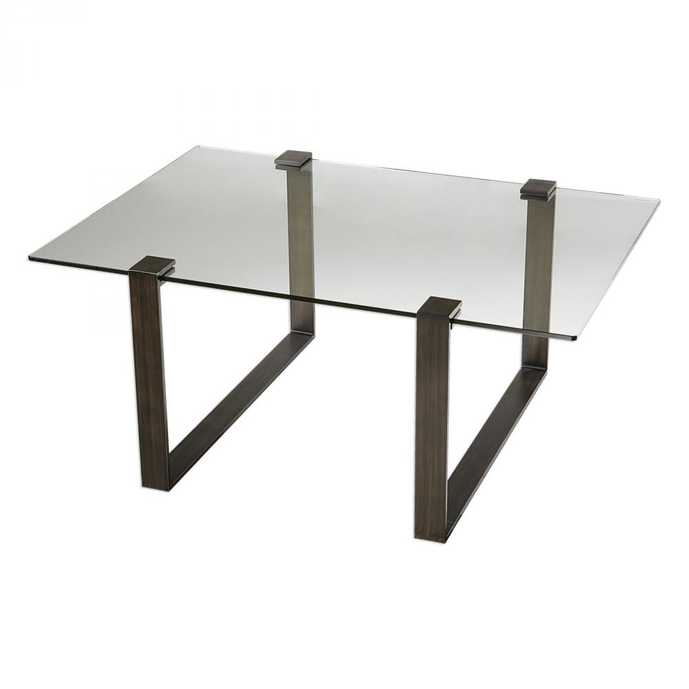 Uttermost Chadwick Glass Coffee Table