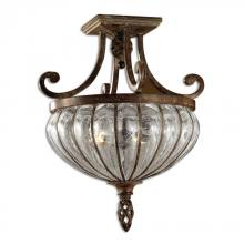 Uttermost 22208 - Uttermost Galeana 2 Light Glass Semi Flushmount