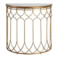 Uttermost 24664 - Uttermost Floressa Gold Console Table